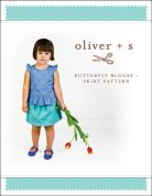 Oliver + S Girls Easy Sewing Pattern Butterfly Blouse & Skirt