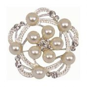 Diamante Brooch  Silver
