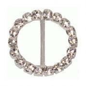 Round Diamante Buckle  Silver