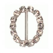 Oval Diamante Buckle  Silver
