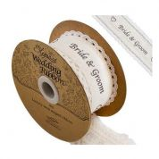 38mm Lace Edge Wedding Ribbon  Ivory