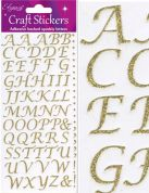 Oaktree Stylised Alphabet Glitter Stickers  Gold