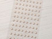 Stick On Self Adhesive Heart Shape Pearls