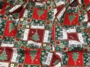 Christmas Cotton Fabric  Multicoloured