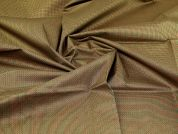 100% Cotton Fabric  Red Green & Gold