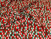 100% Cotton Fabric  Red & Green