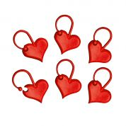 Addi Heart Shaped Knitting Stitch Markers