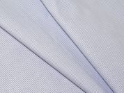Portuguese Pinstripe Shirting Dress Fabric  Blue