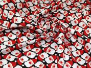 Christmas Polycotton Fabric  Red