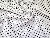 Spots Cotton Poplin Fabric  Black & Ivory