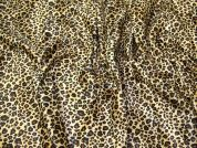 Animal Print Polyester Velboa Fabric  Brown