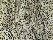 Animal Print Polyester Velboa Fabric  Cream
