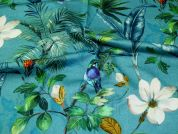 Cotton Sateen Fabric  Turquoise