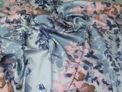 John Kaldor Paris Silky Satin Fabric  Blue