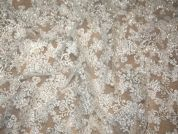 Patricia Lurex Corded Couture Bridal Lace Fabric  Silver