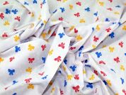 Bows Print Polycotton Dress Fabric  Multicoloured