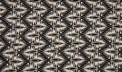 Viscose Challis Fabric  Black & Cream