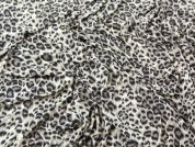 Animal Print Stretch Jersey Dress Fabric  Taupe Brown