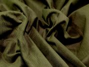 Cotton Corduroy Dress Fabric  Olive Green