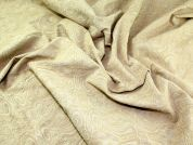 Woven Stretch Jacquard Dress Fabric  Gold