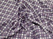 Sunshine Print Chiffon Dress Fabric  Aubergine
