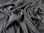 Poly, Viscose & Lycra Velveteen Stretch Suiting Dress Fabric  Brown
