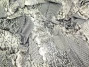 Snake Print Tencel Dress Fabric  Silver Grey