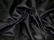 100% Wool Flannel Dress Fabric  Black