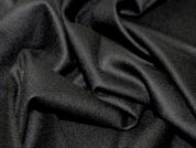 Stretch Wool Suiting Dress Fabric  Black
