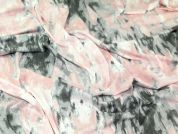 Abstract Print Stretch Jersey Dress Fabric  Pink & Grey