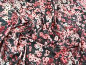 Floral Print Stretch Jersey Dress Fabric  Pink