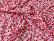 Heart Print Cotton Poplin Dress Fabric  Pink