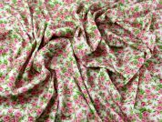 Liberty Vintage Style Floral Cotton Poplin Dress Fabric  Pink