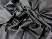 Plain Cotton Sateen Dress Fabric  Black