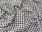Textured Check Coating Dress Fabric  Dark Brown & Ivory