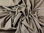 Wool, Poly, Viscose & Cashmere Stretch Suiting Dress Fabric  Camel Brown