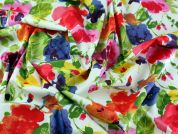 Floral Print Cotton Poplin Dress Fabric  Multicoloured