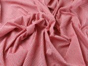 Gingham Check Cotton Seersucker Dress Fabric  Red