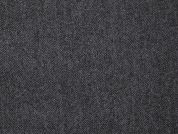 Herringbone Wool Coating Dress Fabric  Grey