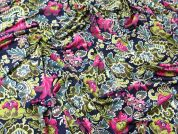Bright Floral Print Stretch Jersey Dress Fabric  Multicoloured