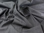Plain Cotton & Lycra Stretch Denim Dress Fabric  Black