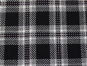 Wool Blend Plaid Coating Dress Fabric  Black, Cream & Pink