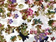 Flower Print Cotton Voile Dress Fabric  Multicoloured