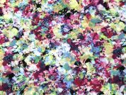Abstract Print Cotton Voile Dress Fabric  Multicoloured