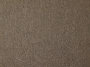 Italian Wool Blend Herringbone Coating Dress Fabric  Brown