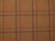 English Wool Blend Plaid Coating Dress Fabric  Rust