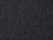 English Pure Wool Coating Dress Fabric  Charcoal Grey