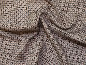 Patterned Viscose Challis Dress Fabric  Beige