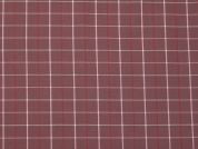 Woven Check Cotton Shirting Dress Fabric  Dusky Pink