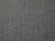 English Pure Wool Herringbone Suiting Dress Fabric  Grey